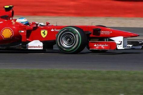 Fernando Alonso ist zufrieden, wie das Auto in Silverstone funktioniert