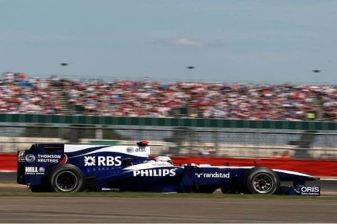 Rubens Barrichello wunderte sich über die Unnebenheiten von Silverstone