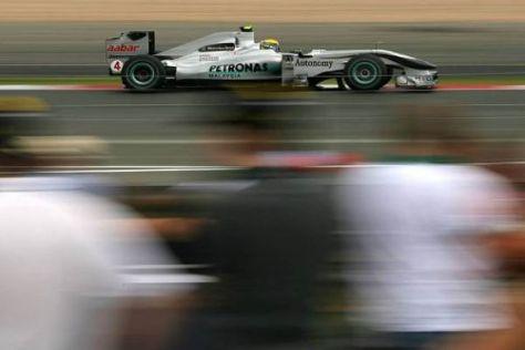 Nico Rosberg fuhr sich im Qualifying in eine aussichtsreiche Position