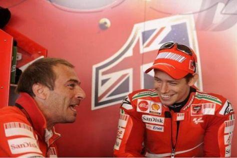 Einst zusammen bei Ducati, nun gemeinsam bei Honda: Suppo und Stoner