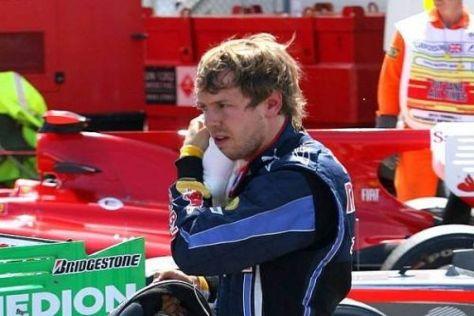 Enttäuscht: Sebastian Vettel wollte in Silverstone unbedingt gewinnen