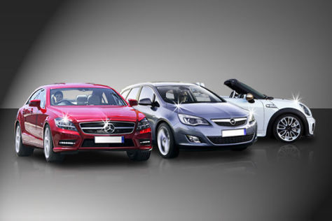 Mercedes CLS, Opel Astra Sports Tourer und Mini Roadster