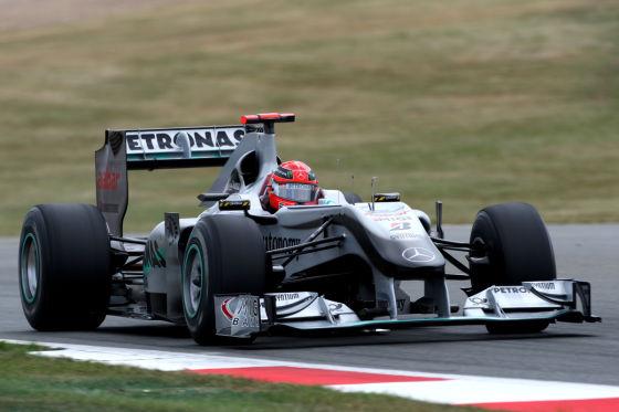 Michael Schumacher Mercedes GP in Großbritannien