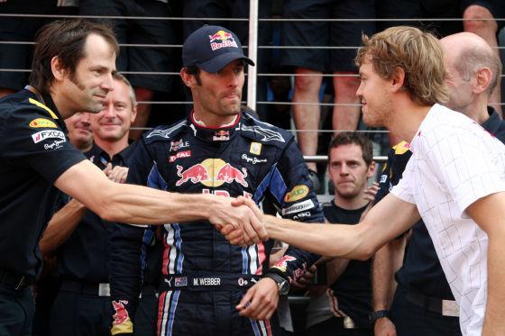 Red Bull Racing Mark Webber und Sebastian Vettel
