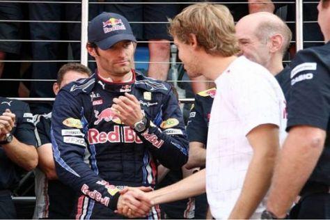 Immerhin: Sebastian Vettel gratulierte Mark Webber zum Sieg in Silverstone