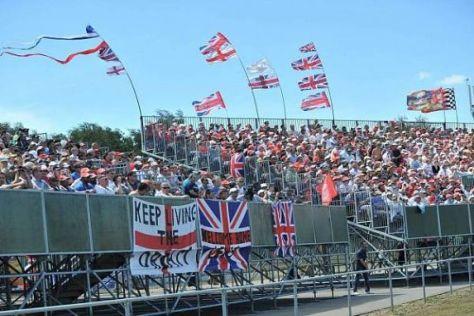 Britische Party: Die Tribünen in Silverstone waren am Wochenende voll