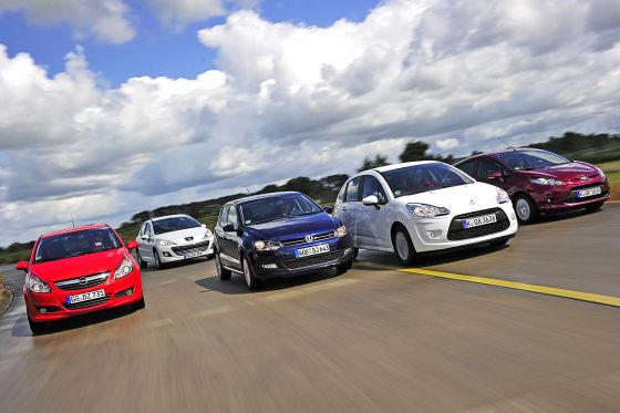 Ford Fiesta Opel Corsa VW Polo Citroën C3 Peugeot 207