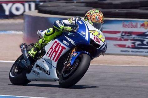 Valentino Rossi blickt auf erfolgreiche Auftritte in Laguna Seca zurück
