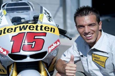 Alex de Angelis bestreitet in Laguna Seca sein zweites Rennen für Interwetten