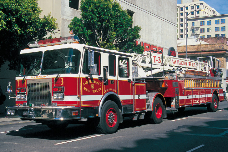 Tillered Ladder Truck