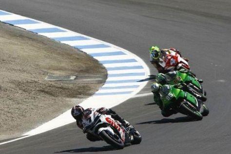 Roger Lee Hayden (Nr. 95) startete bereits 2007 beim MotoGP-Lauf in Laguna Seca