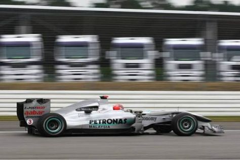 Michael Schumacher hofft auf den fünften oder sechsten Startplatz