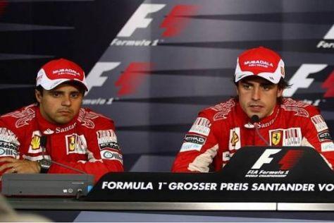 Felipe Massa und Fernando Alonso im Rahmen der FIA-Pressekonferenz