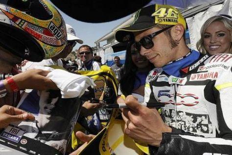 Valentino Rossi war mit seinem dritten Platz in Laguna Seca sehr zufrieden