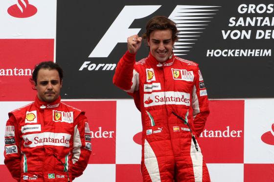 Felipe Massa und Fernando Alonso, Ferrari