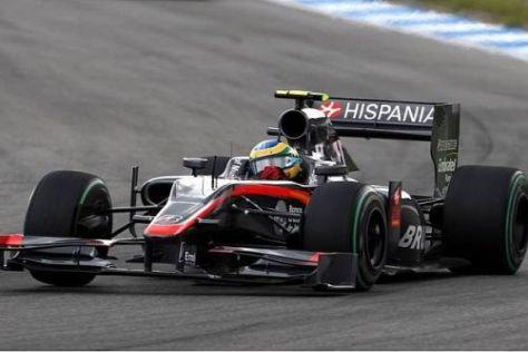Bruno Senna wird auch am Hungaroring im HRT-Cockpit sitzen