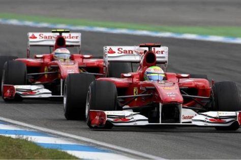 Felipe Massa durfte nicht bis zum Ende vor Fernando Alonso führen