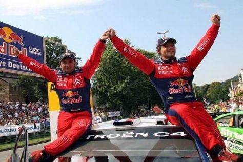 Gewohntes Bild: Daniel Elena und Sébastien Loeb feiern in Trier