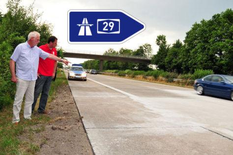 Straßenschäden A29