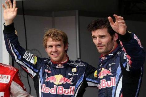 Sebastian Vettel und Mark Webber ließen die Konkurrenz alt aussehen