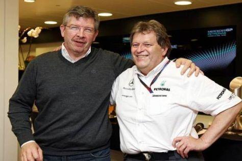 Ross Brawn und Norbert Haug haben Hoffnung auf baldige Besserung