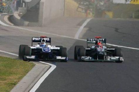 Michael Schumacher gab erst im allerletzten Moment klein bei