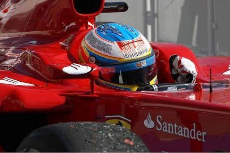 Fernando Alonso durfte sich über einen unerwarteten zweiten Rang freuen