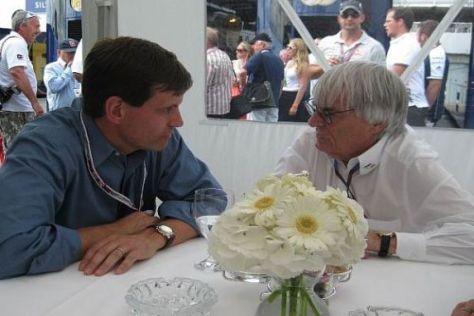 Tavo Hellmund und Bernie Ecclestone: 2012 gibt es den US-Grand-Prix