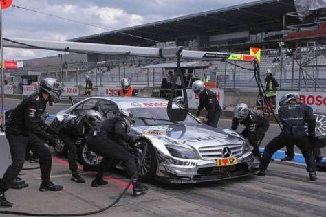 Perfekte Teamarbeit: Nicht nur bei Ralf Schumacher ging in der Box alles glatt