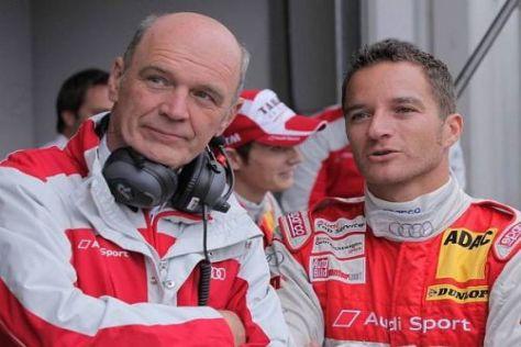 Wolfgang Ullrich und Timo Scheider: Platz vier war das beste Audi-Ergebnis