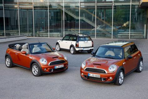 Mini, Mini Cabrio und Clubman Facelift 2010