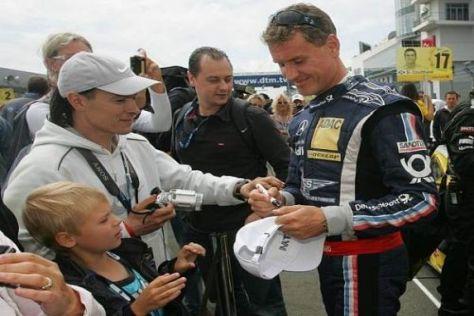 David Coulthard kann viele Fans auch auf der Strecke überzeugen