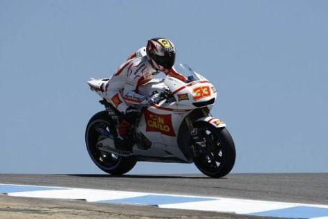 Marco Melandri ging in Laguna nach zehn Runden die Kraft aus