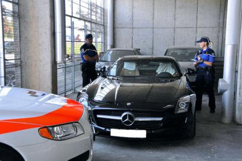 Sichergestellter Mercedes SLS AMG