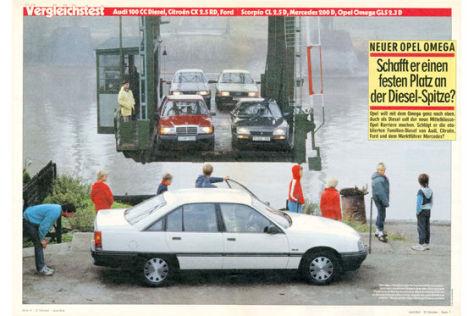 Vergleichstest Opel Omega