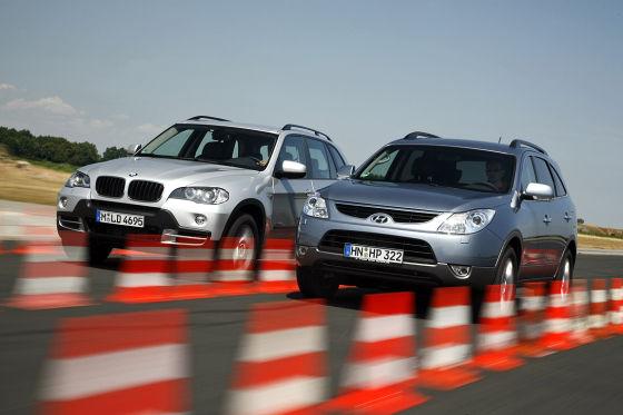 BMW X5 xDrive 30d und Hyundai ix55 3.0 V6 CRDi