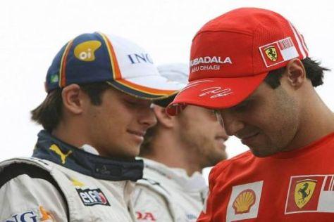 Brasilianische Opfer der Stallorder: Nelson Piquet jr. und Felipe Massa