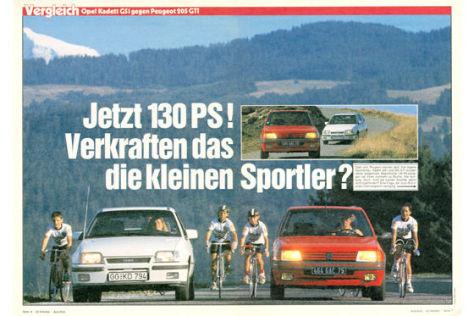 Opel Kadett GSI gegen Peugeot 205
