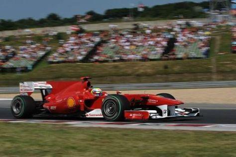 Felipe Massa - hier in Ungarn - ließ Fernando Alonso in Hockenheim überholen