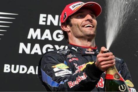 Wie in Ungarn, so am Jahresende? Mark Webber bejubelt seinen jüngsten Sieg