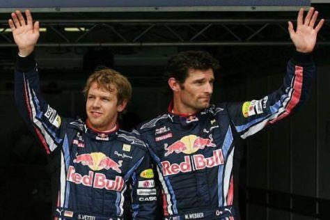 Mark Webber und Sebastien Vettel wollen auch in Spa-Francorchamps jubeln