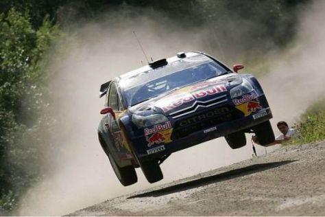 Auf dem Sprung: Kimi Räikkönen wechselte Anfang 2010 in die Rallye-WM (WRC)