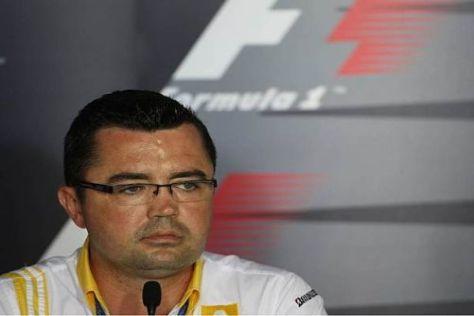 Renault-Teamchef Eric Boullier ist gespannt auf die Wirkung des F-Schachts