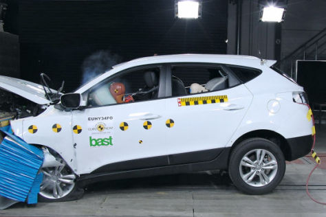 Suzuki Swift im EuroNCAP Crashtest