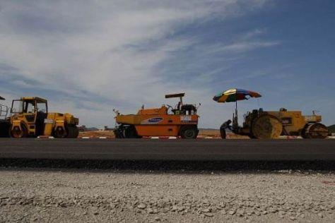 Die Bauarbeiten in Südkorea schreiten langsamer voran als geplant