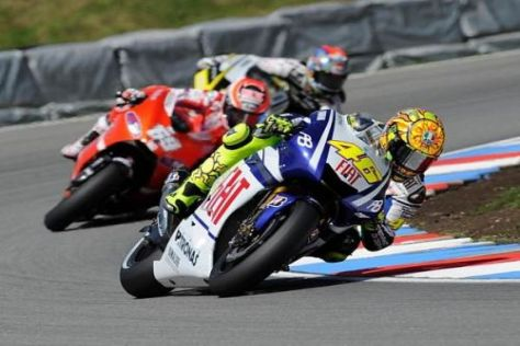 Weltmeister Valentino Rossi ist seit Jahren das große Zugpferd der MotoGP