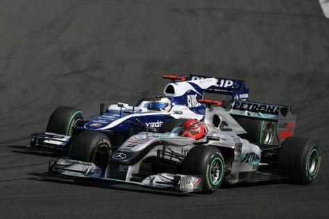 Rubens Barrichello und Michael Schumacher kamen sich sehr nahe...