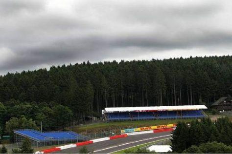 Dunkle Wolken zeigten sich schon heute über Spa-Francorchamps