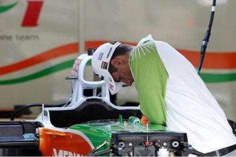 Adrian Sutil auf der Suche nach mehr Geschwindigkeit
