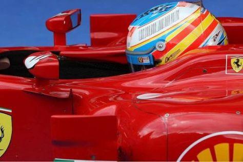 Nicht sauer über den schlechten Startplatz: Fernando Alonso ist gefasst